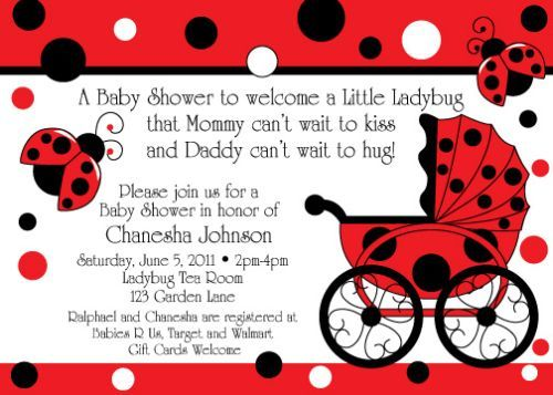 101 best baby shower invitations images on pinterest baby shower ladybug baby shower invitation and theme stopboris Gallery