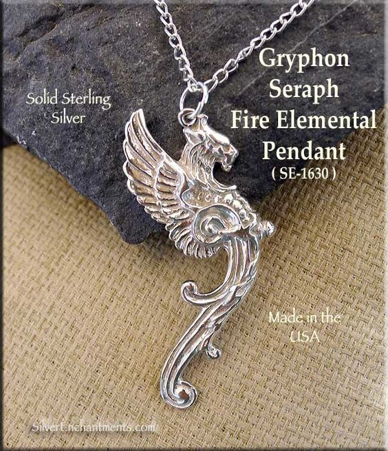 Sterling Silver Gryphon Pendant