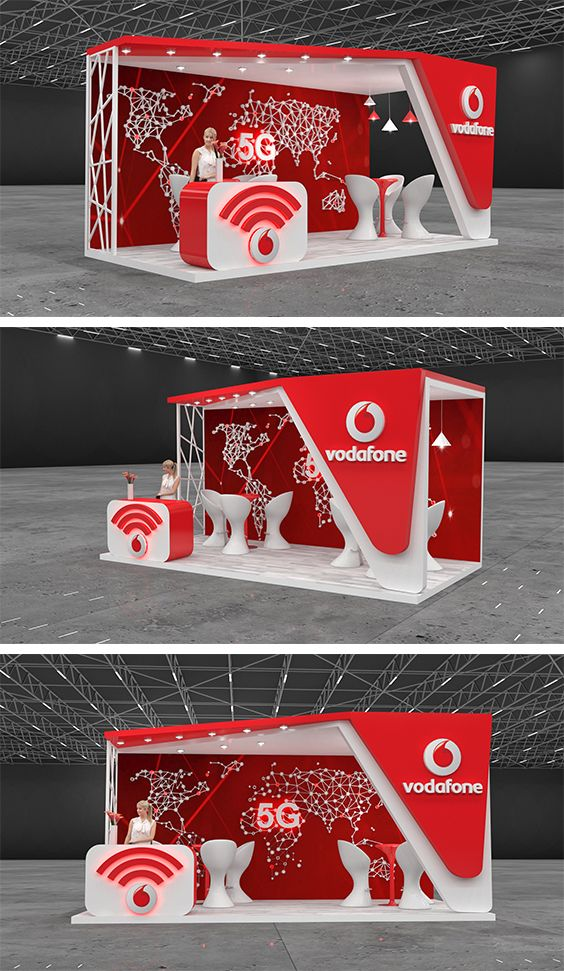 Vodafone Booth Design Event Booth Design Trade Show Booth