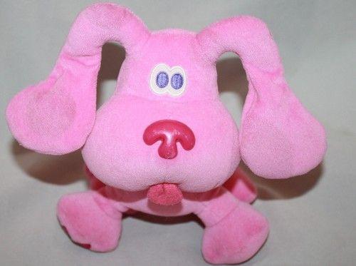 Eden Magenta Blues Clues plush pink puppy dog stuffed toy ...
