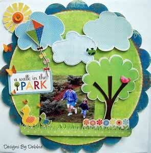 A walk in the park LO.  Image detail for -Diaries of a Scrapbooking Nut: Boys Boys Boys - Echo Park Paper