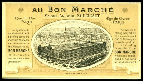 https://flic.kr/p/rcehrK   French Trade Card Back   Au Bon Marche Shops - system card, the tram, printed by Goosens c1899