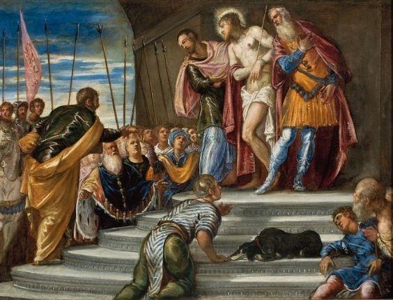 Tintoretto (Jaco Robusti) - Ecce Homo or Pilate Introduces Christ to the Crowd. Masp (Museu de Arte de São Paulo Assis Chateaubriand), Brazil.