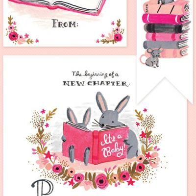 Book Baby Shower Printables