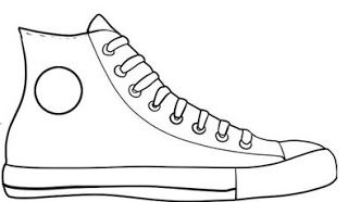 Pete The Cat Tennis Shoes Pattern In Color