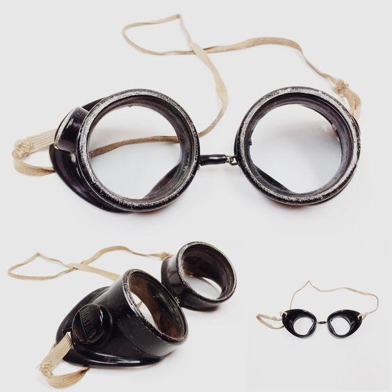 Antique welder's goggles