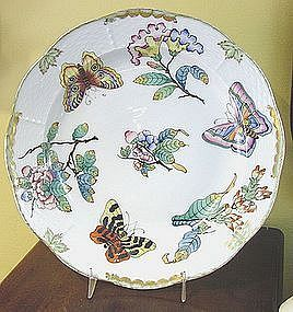 """Rare 19th C. Herend Dinner Plate """"Victoria"""""""