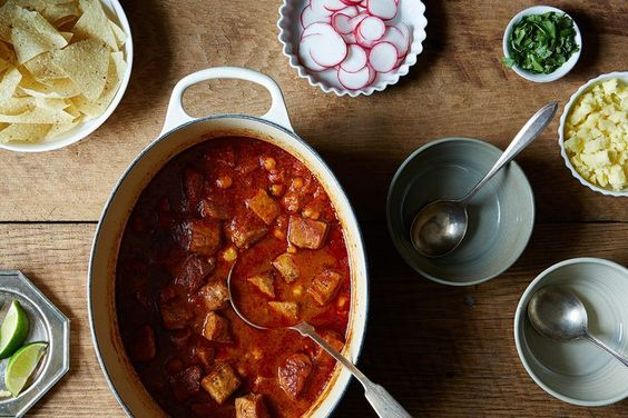 Warming Red Pozole  http://food52.com/recipes/8047-warming-red-pozole