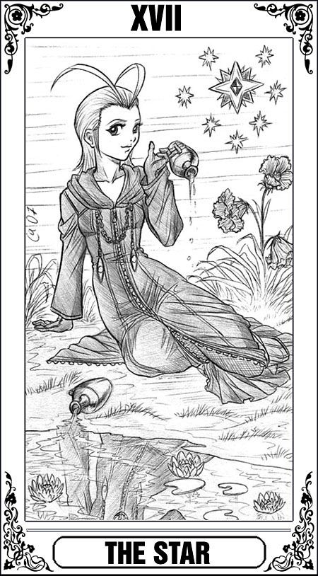 KH Tarot: The Star by Autumn-Sacura @DeviantArt | ✐Coloring Pages ...