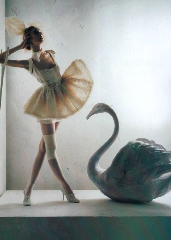 """pneumode:  Olga Sherer for Vogue Italia January 2008 shot by Tim Walker Editorial """"A Magic World"""" Scanned by Susie Bubble"""