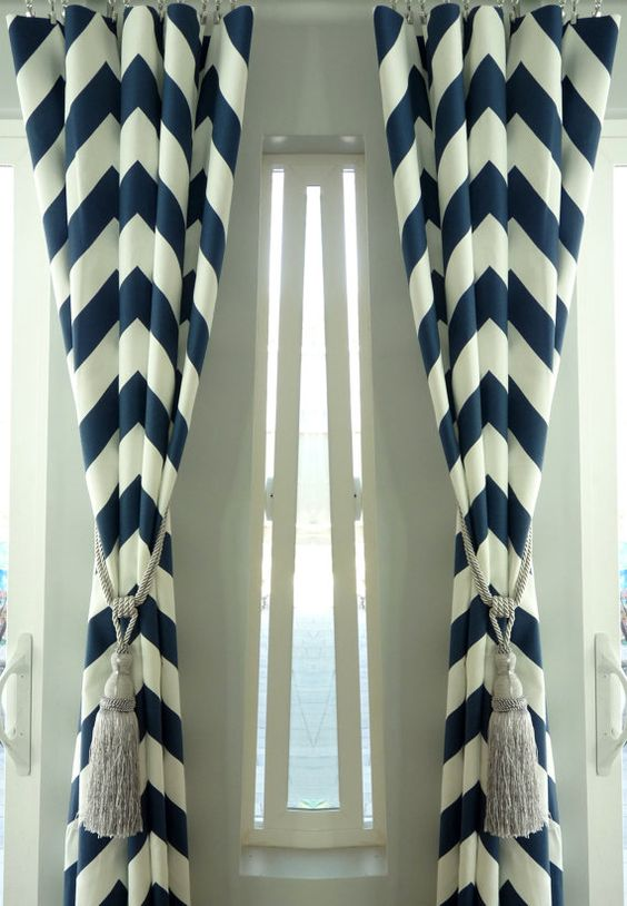 Curtains Ideas chevron print curtains : Spring Sale - Pair of Two 25