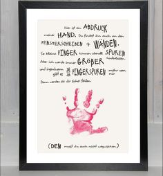 - jetzt auch *personalisierbar* - Erinnerungen bewahren - ein Print mit *Erinnerung*swert auf schönem Papier; (OHNE Handabdruck), nicht nur zum *Muttertag* oder *Vatertag* eine kreative...