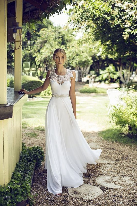 Mariage robe dentelle Boho mariage robe par BailynnBouNique sur Etsy