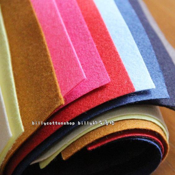 w506_95 - Wool Felt Sheets - scrap bundle - (30cm x 30cm) X 10 pieces by billycottonshop0413 on Etsy