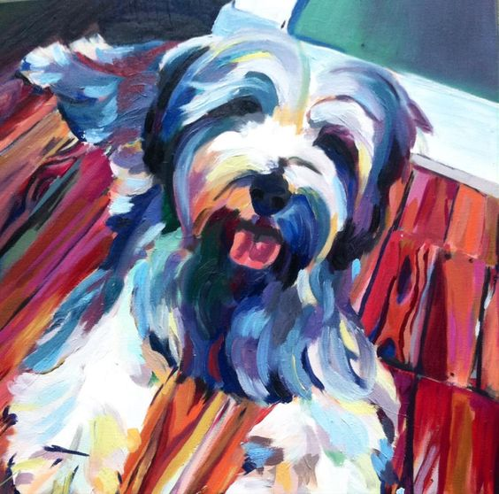 Dog portraits are a perfect gift for proud pup parents. Visit my etsy shop, AlsWonderland or message me at alison@artsy.academy about commissioning a painting