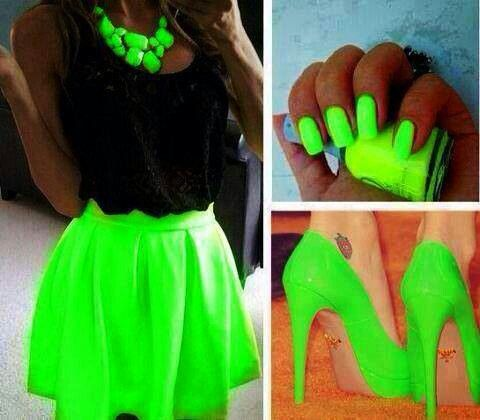 neon green green and neon green on