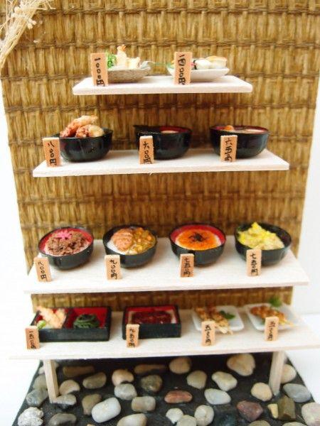miniature japanese food display