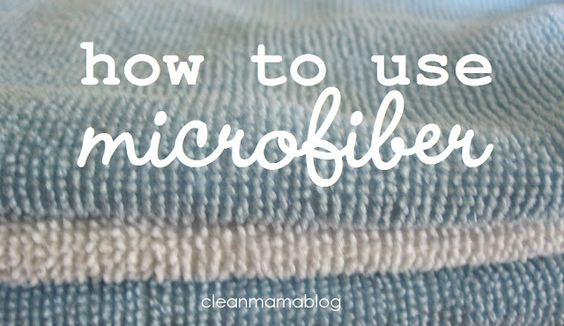 Cut back on your paper towel consumption by using microfiber to clean your house. Great tips, resources and ideas via Clean Mama