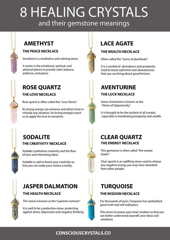 8 Healing Crystals. Crystal Meanings. Crystal Pendants. Crystal Necklace Pendant. Pointed Pendant. Pointed Crystal. Crystal Necklaces. Discover which healing crystal pendant is for you and discover the gemstone meaning for each necklace. Find your crystal pointed pendant necklace here: www.consciouscrystals.co