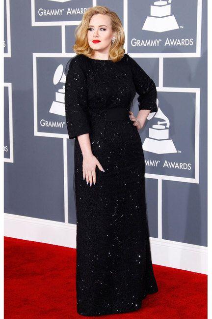 Adele in eye-catching Giorgio Armani dress