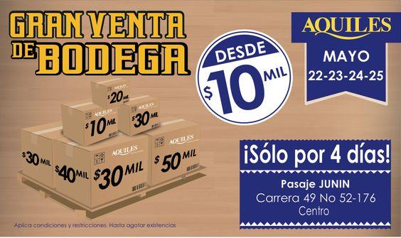 Medellín desde hoy y hasta el domingo 25 de Mayo Disfruta de grandes promociones en Nuestra Venta de Bodega.