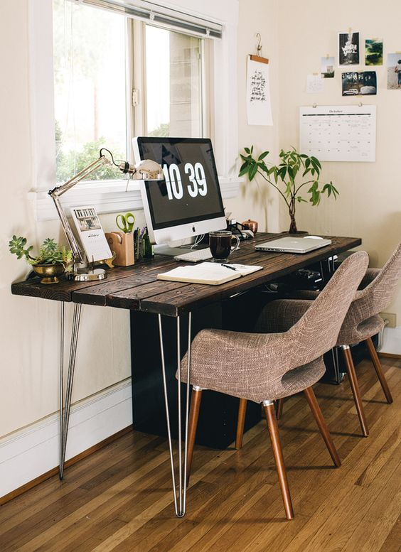 I love all the earth tones. Organic workspaces are supposedly much less stress inducing.