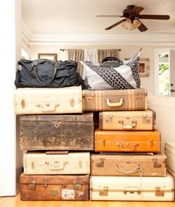 beautiful collection of suitcases