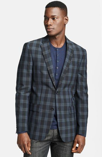 #John Varv                #Jacket/Sportcoat         #John #Varvatos #Star #Trim #Plaid #Sportcoat       John Varvatos Star USA Trim Fit Plaid Sportcoat 38R                           http://www.snaproduct.com/product.aspx?PID=5421016