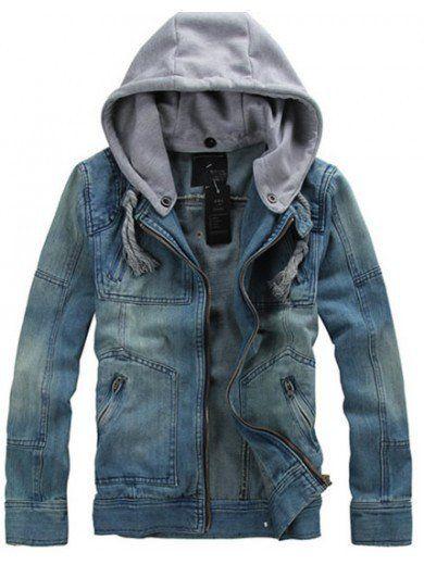WANT. Jean Jacket Coat M/L/XL S0D13-1 from efoxcity