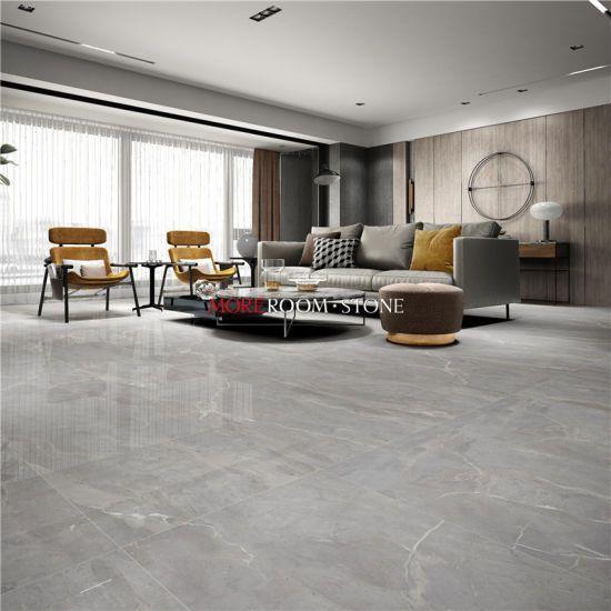 Hot Item Large Modern Living Room Design Grey Marble Porcelain Big Size Porcel Floor Tiles Living Room Modern Marble Living Room Floor Grey Tiles Living Room