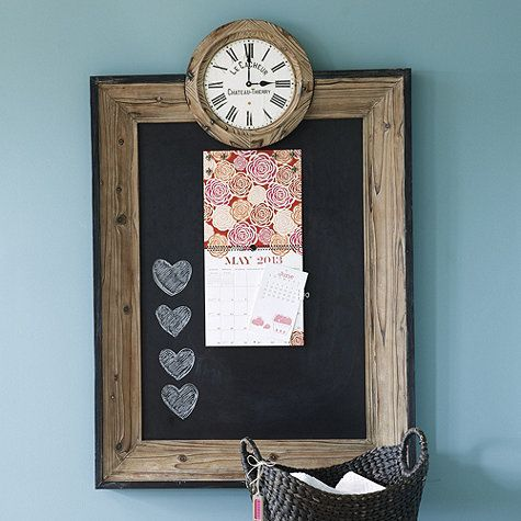 Magnetic Chalkboard with Clock by Ballard Designs