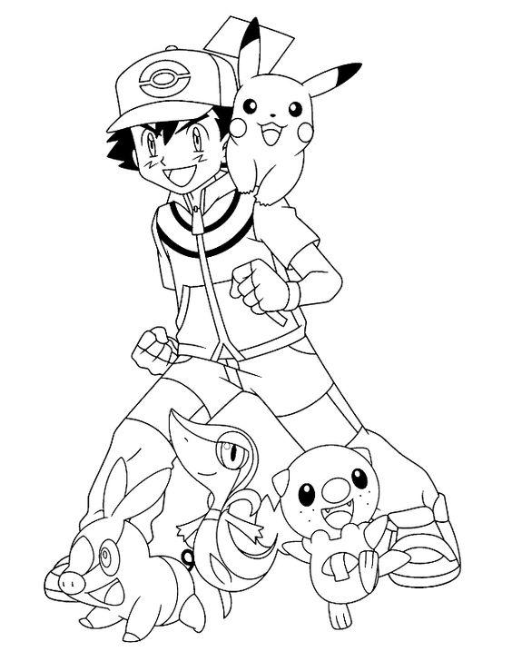 axew coloring page - pokemonkleurplaten pokemon friends