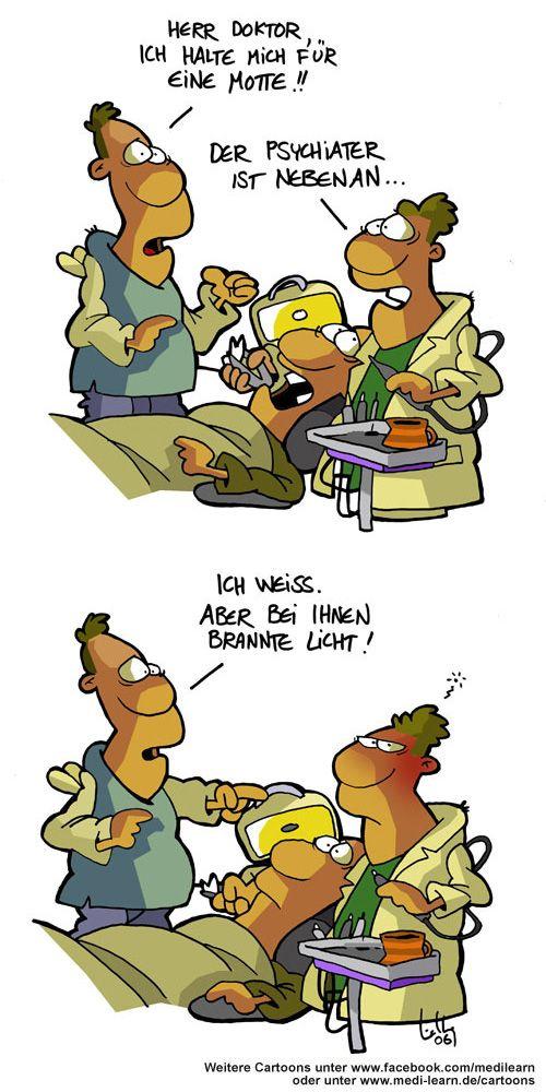 Motte Lustige Cartoons Lustige Comics Arzt Witze