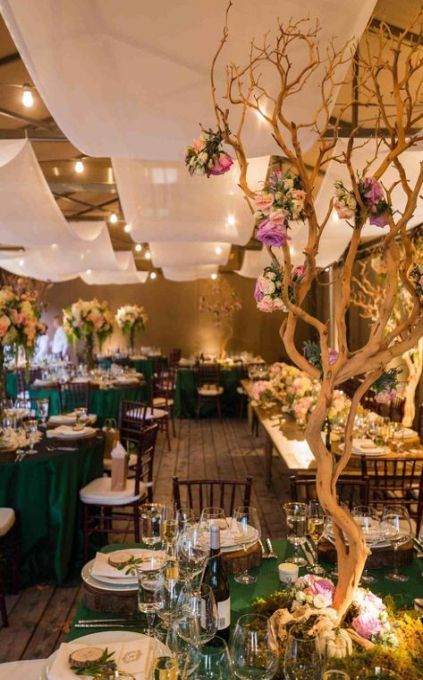17 Ideas Garden Wedding Decorations Enchanted Forest Receptions #wedding #garden