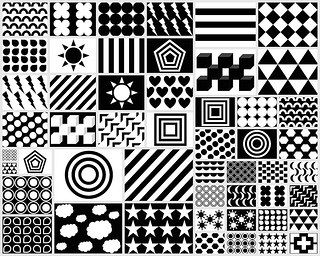 Visual stimulation for babies free printable black - Baby black and white shapes ...