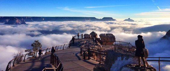 Fotos incríveis: as nuvens desceram do céu e tomaram conta do Grand Canyon