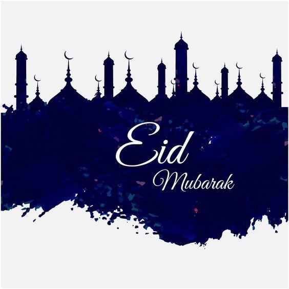 Eid Mubarak Blue Design Greeting Card Vectors http://www.cgvector.com/50-vector-graphics-eid-greeting-card-and-wallpaper/