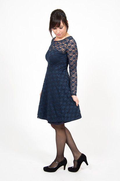 Anleitung für ein Festtagskleid aus Spitze   party lace dress sewing tutorial