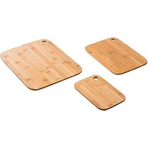 Conjunto Tábua Para Corte De Bambú 3 Peças La Cuisine