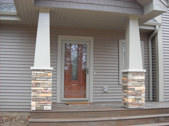 Craftsman style stone columns special details by for Craftsman stone