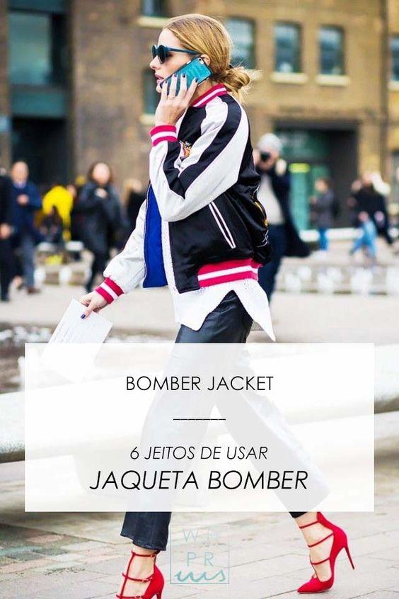 Whisper by Sara: BOMBER JACKET   6 JEITOS DE USAR JAQUETA BOMBER @whisperbysara    Olivia Palermo, photo via Style Du Monde