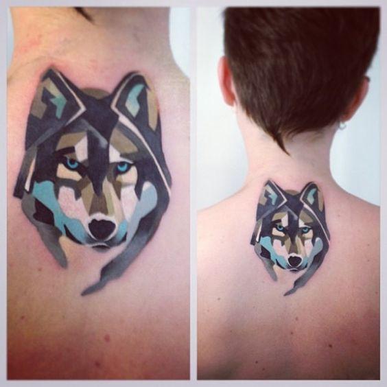 As tatuagens geométricas em estilo aquarela de Sasha Unisex | Tinta na Pele: