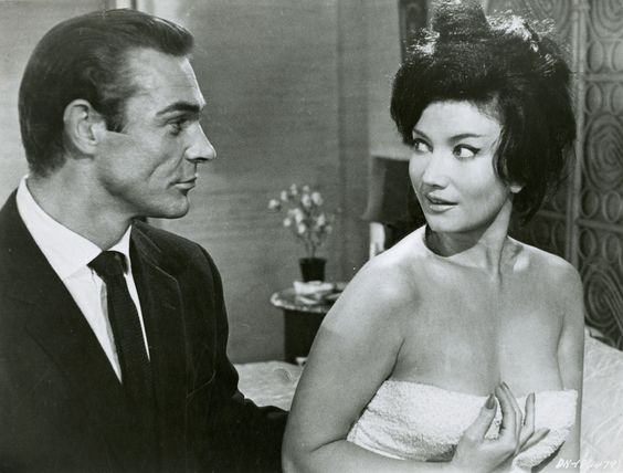 Sean Connery and Zena Marshall (Dr. No - 1962)