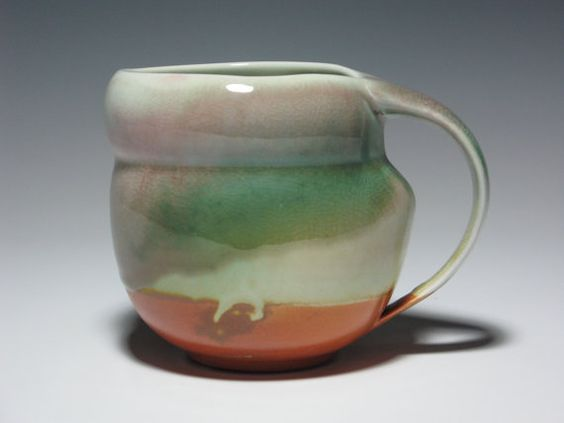 Mug 16oz. Metamorphose Pottery Ceramic Opal Icy by BethGoobic