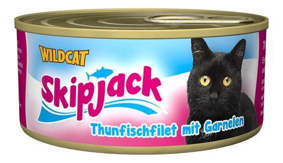 Skipjack - Thunfischfilet mit Garnelen. Der vitaminreiche Thunfisch-Snack von Healthfood24 #healthfood24 #wildcatkatzenfutter #katzennassfutter