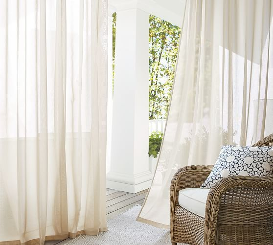 Outdoor Sheer Grommet Curtain Outdoor Curtains For Patio