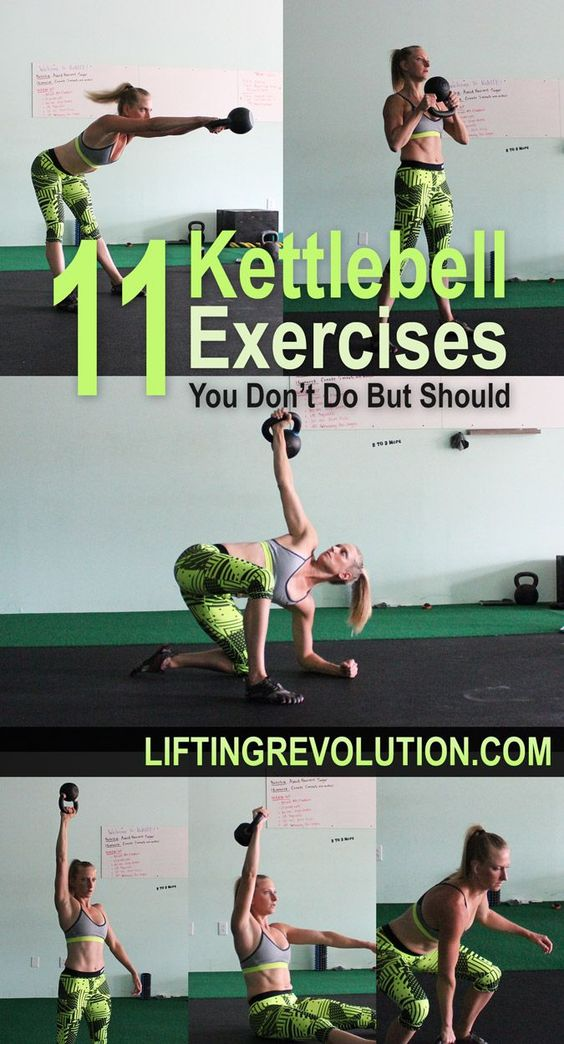 11 Fun Kettlebell Exercises You Don't Do But Should #kettlebells #exercises…