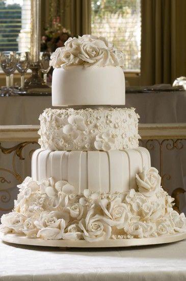 Gorgeous ivory rose cake