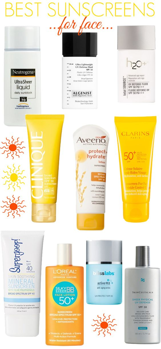 The best sunscreens for your face.