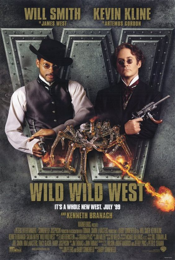 """Wild Wild West (1999) - Sometimes I wonder why perfectly good actors like Kevin Kline and Kenneth Branagh make unadulterated crap such as this. Wait. I know. It's called a  paycheck. One commenter labeled it a """"lame, bloated blockbuster."""" I'd say that's appropriate. Avoid like The Plague."""